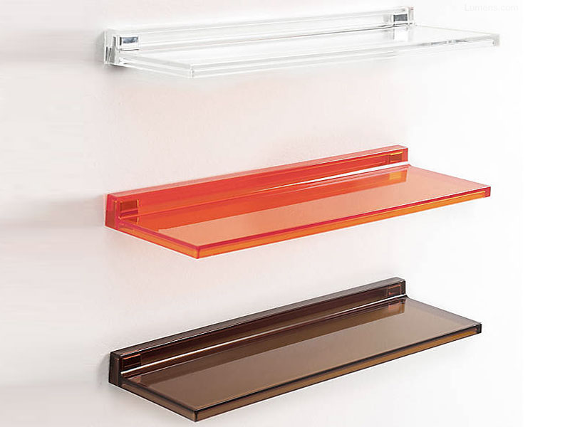 Sumptuous Design Of Small Wall Shelf Of Tempered Glass Material