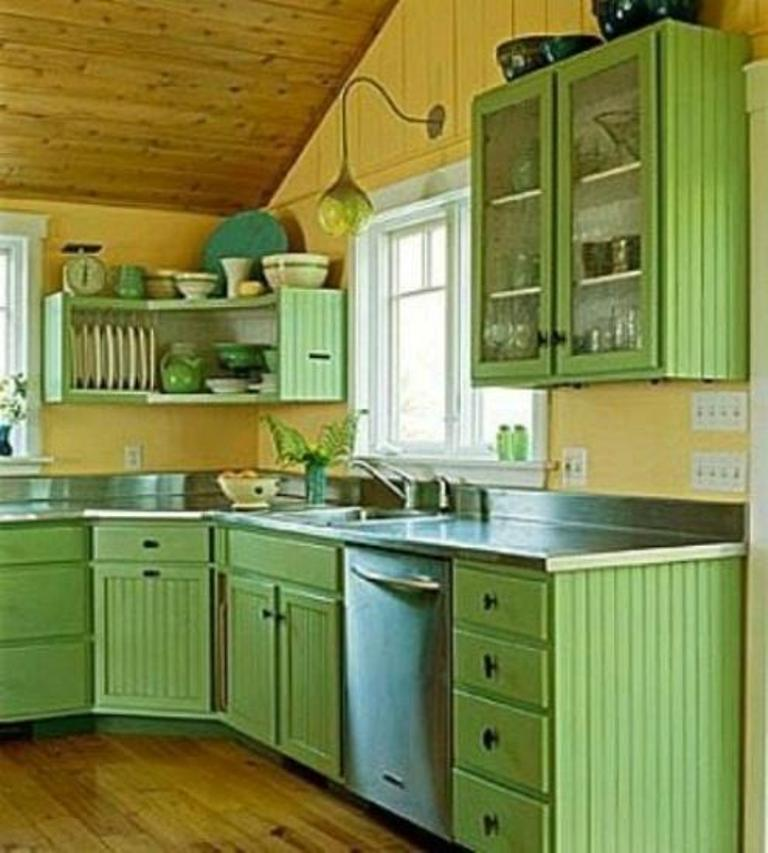 Genial Green Kitchen Cabinets For Eco Friendly Homeowners MidCityEast