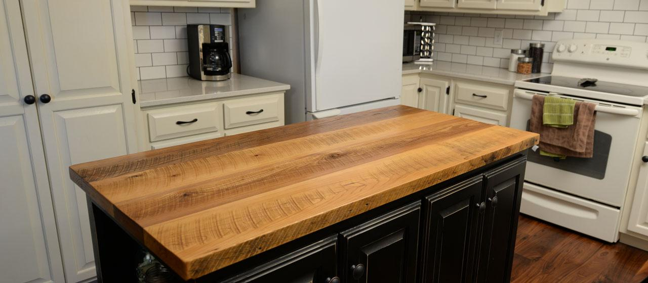 Superb Design Of The Kitchen Countertops Ideas With Black Wooden Kitchen Island Added With White Kitchen Cabinets Ideas
