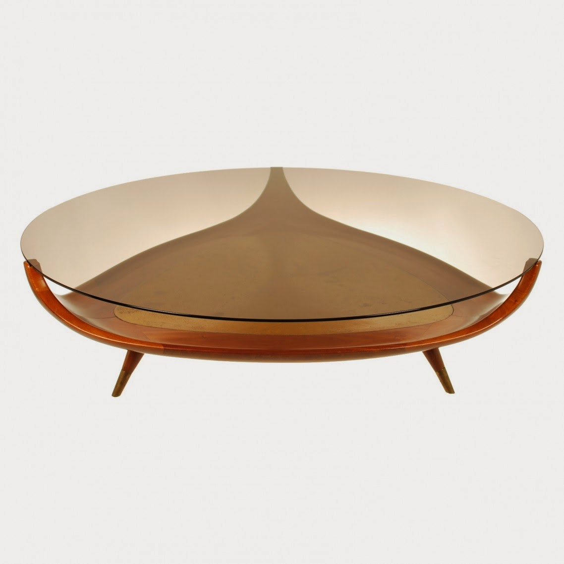 Superb Design Of The Oval Glass Coffe Table With Unique Shape Added With  Three Legs Areas. Artistic Small Round Coffee Table   MidCityEast