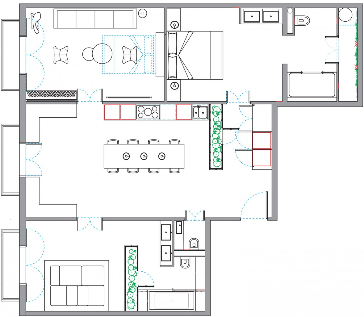 Superb Design Of The Simple Floor Plans With Bedroom Added With Living Room And Dining Room Ideas With Backyard