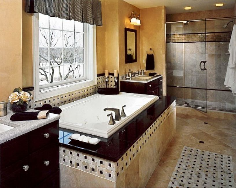 Taking Bathroom Furniture With Visible Showering Area also Cabinet and Bathtub