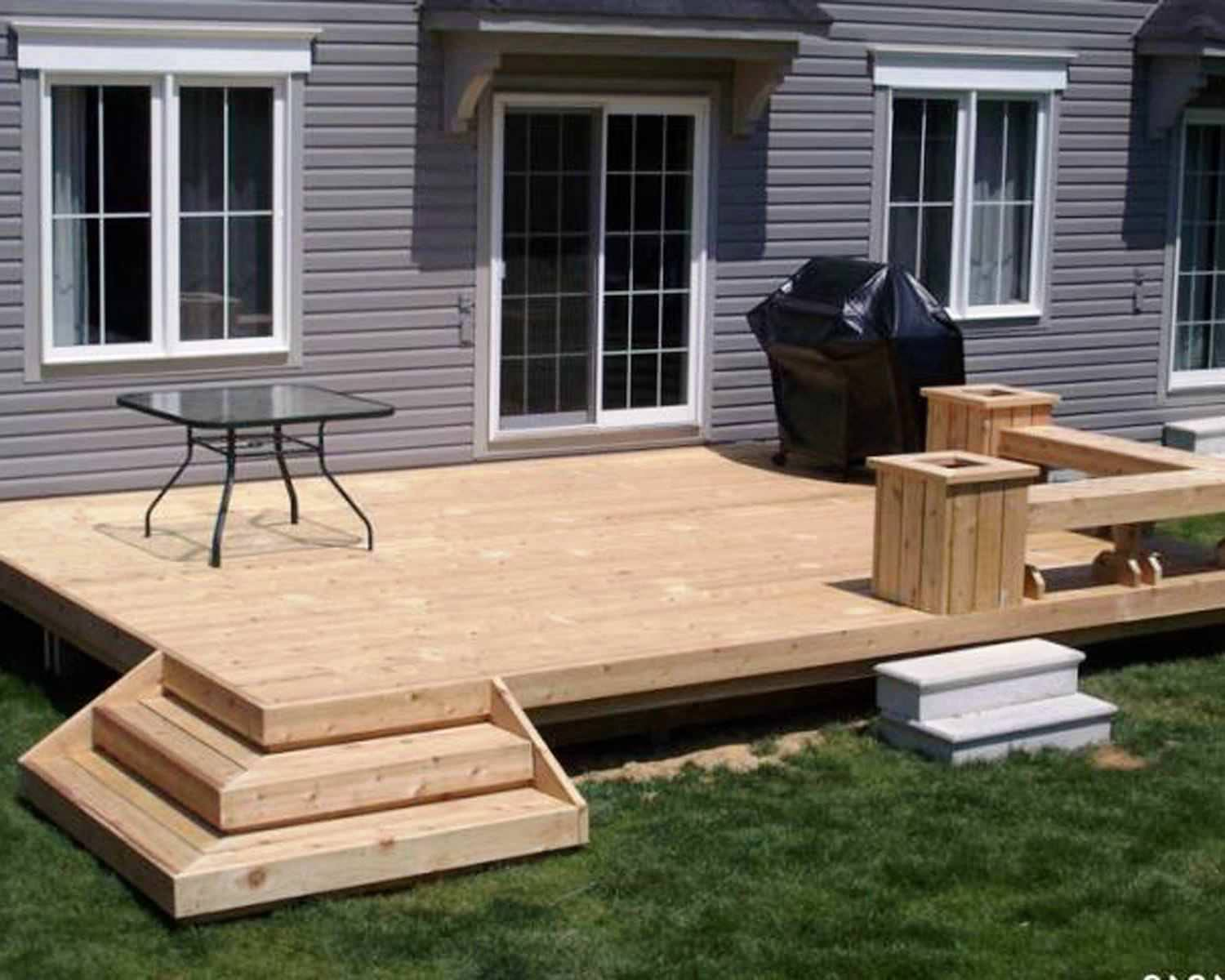 Taking Wooden Floor Tile also Square Glass Coffee Table For Backyard