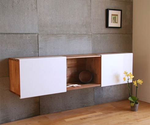 Tantalizing Design of Rectangular Wooden Wall Shelf alsol Flowers