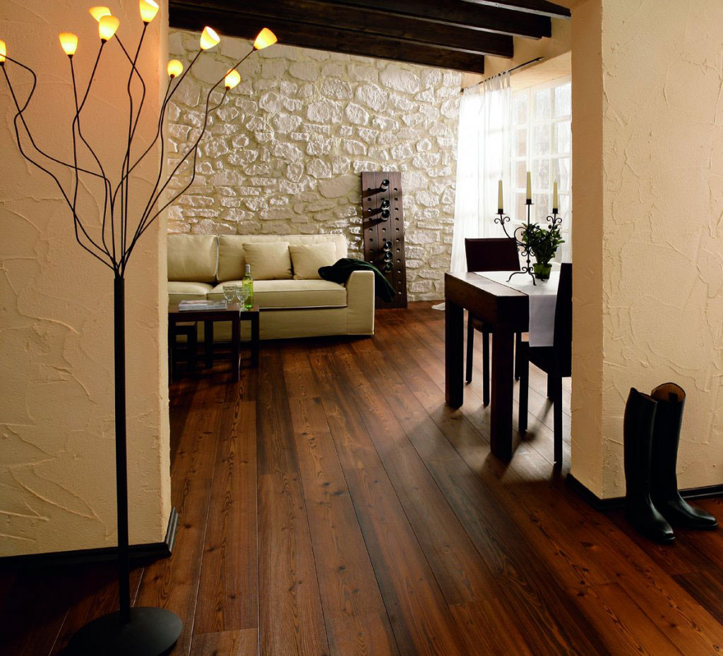 Tantalizing Wooden Floor also White Sofa For Living Room Decor