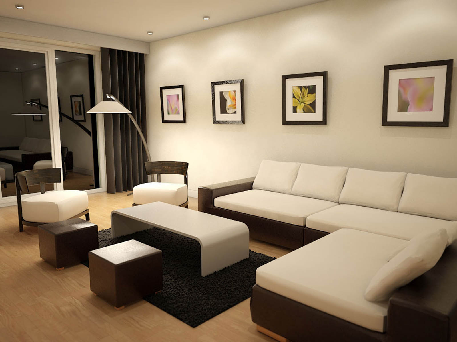 Winsome Sofa plus Coffee Table and Floor Lamp To Decorate Living Room