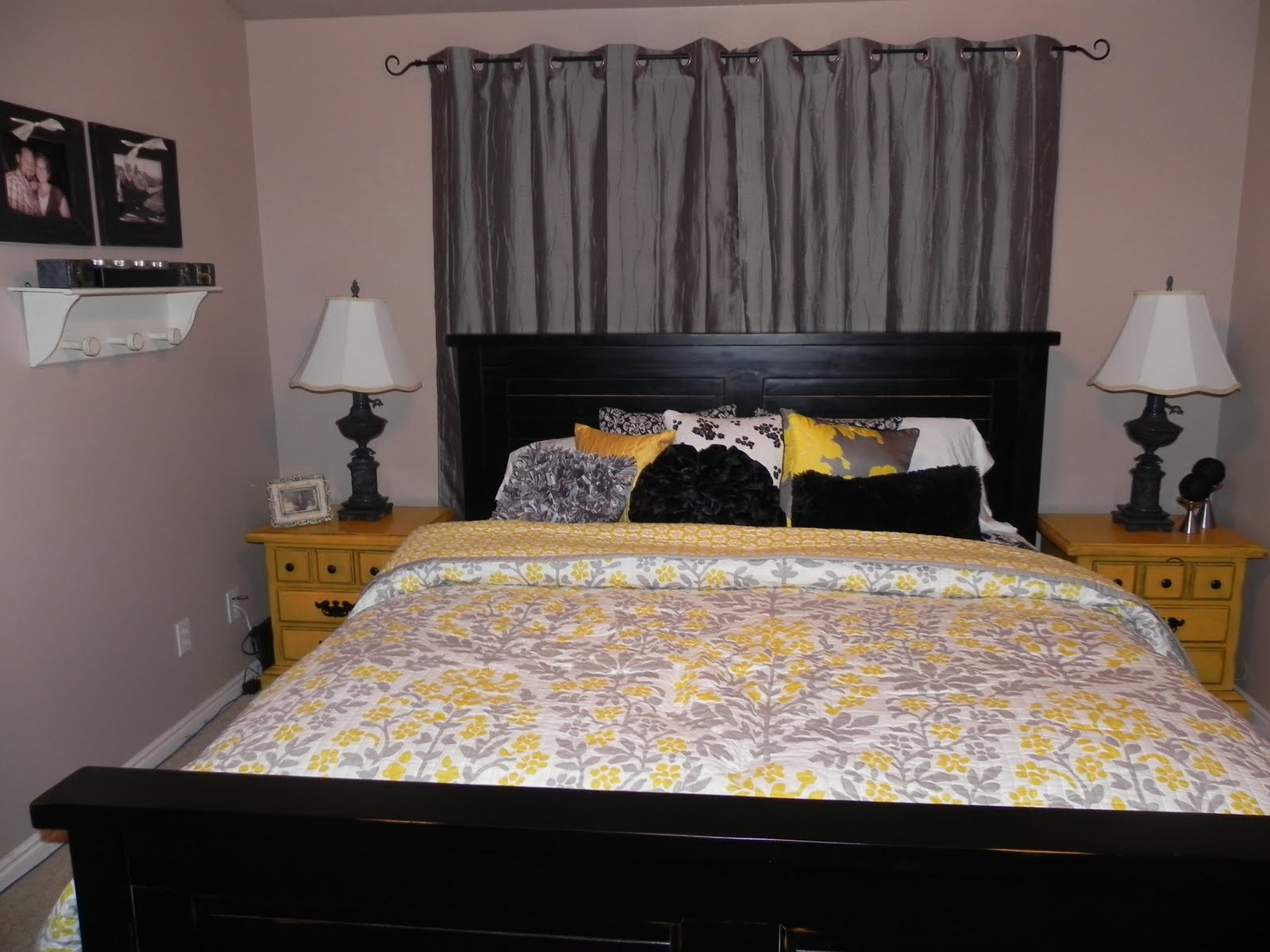 plain gray blue yellow bedroom bedrooms a reversible comforter and