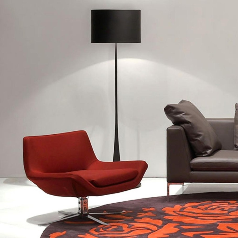 Wonderful Chair For Red Living Room Furniture Beside Dark Floor Lamp
