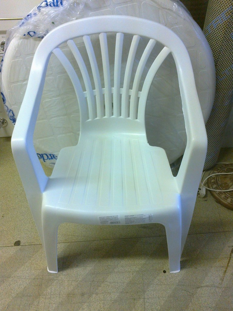Wonderful Design of Plastic Chair Using Large Back and Handle arm
