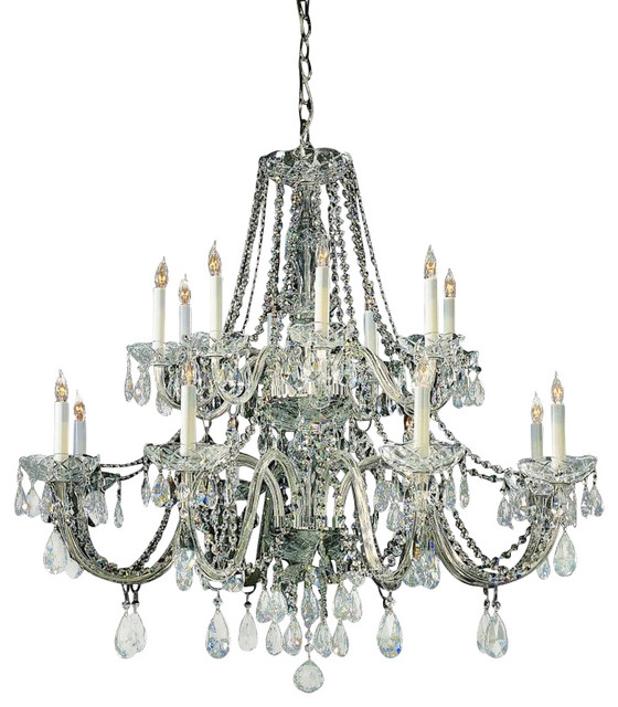 Wonderful Style Of Swarovski Crystal Chandelier With Small Chain Decor