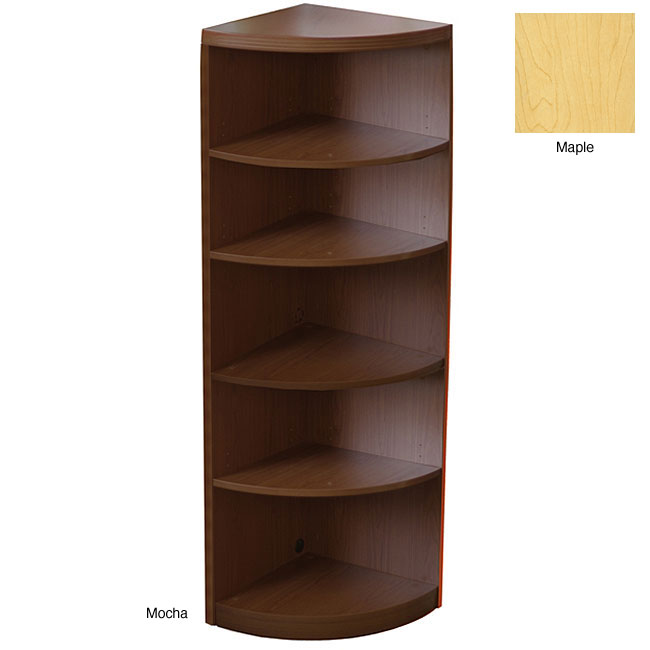 Wondrous Design of Corner Shelf Of Wooden Material With Four Storages