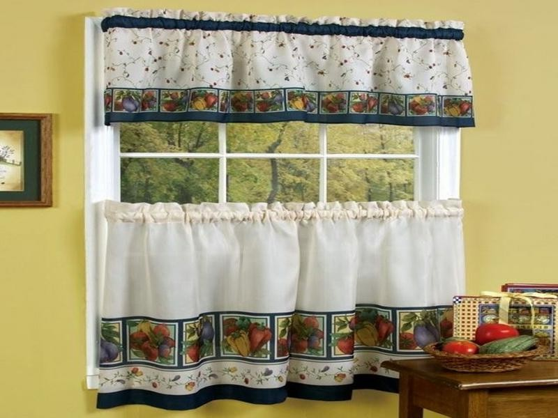 fantastic design of the kitchen curtains ideas with white curtain added with yellow wall ideas