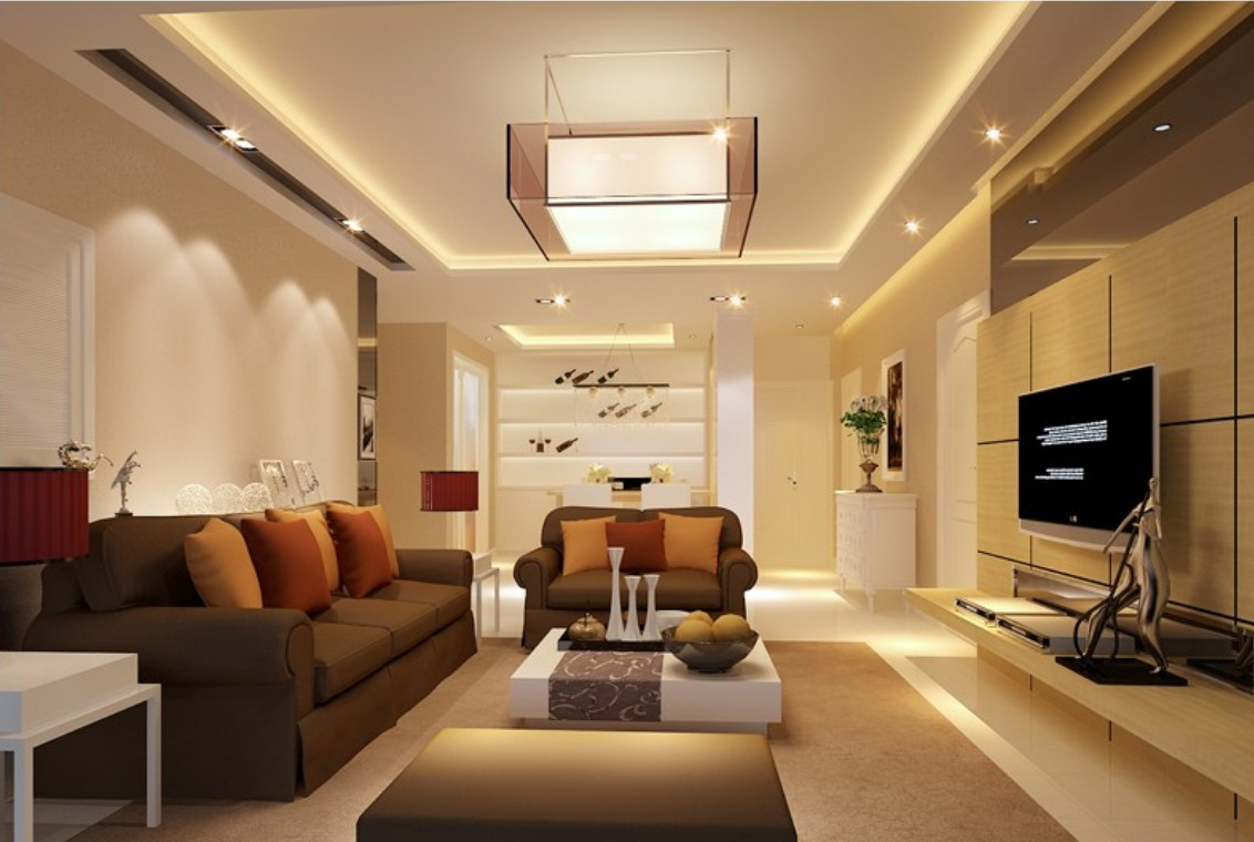 Appealing Lighting Fixture also Living Room Sets of Sofa and Table