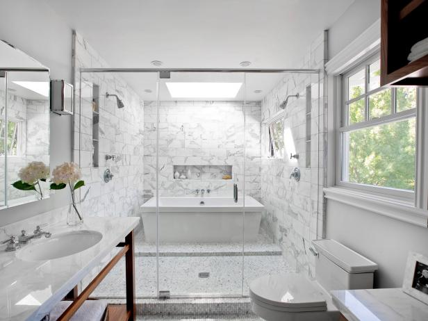 Astonishing Glass Ceiling also Bathtub For Decorating Shower Area