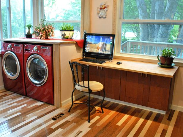 Astonishing Room With Diy Desk also Chair Plus Washing Machine