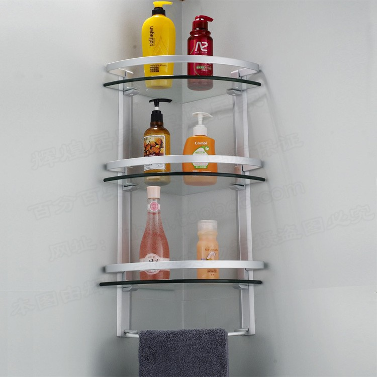 Bathroom Corner Shelf Completes Your Small Bathroom