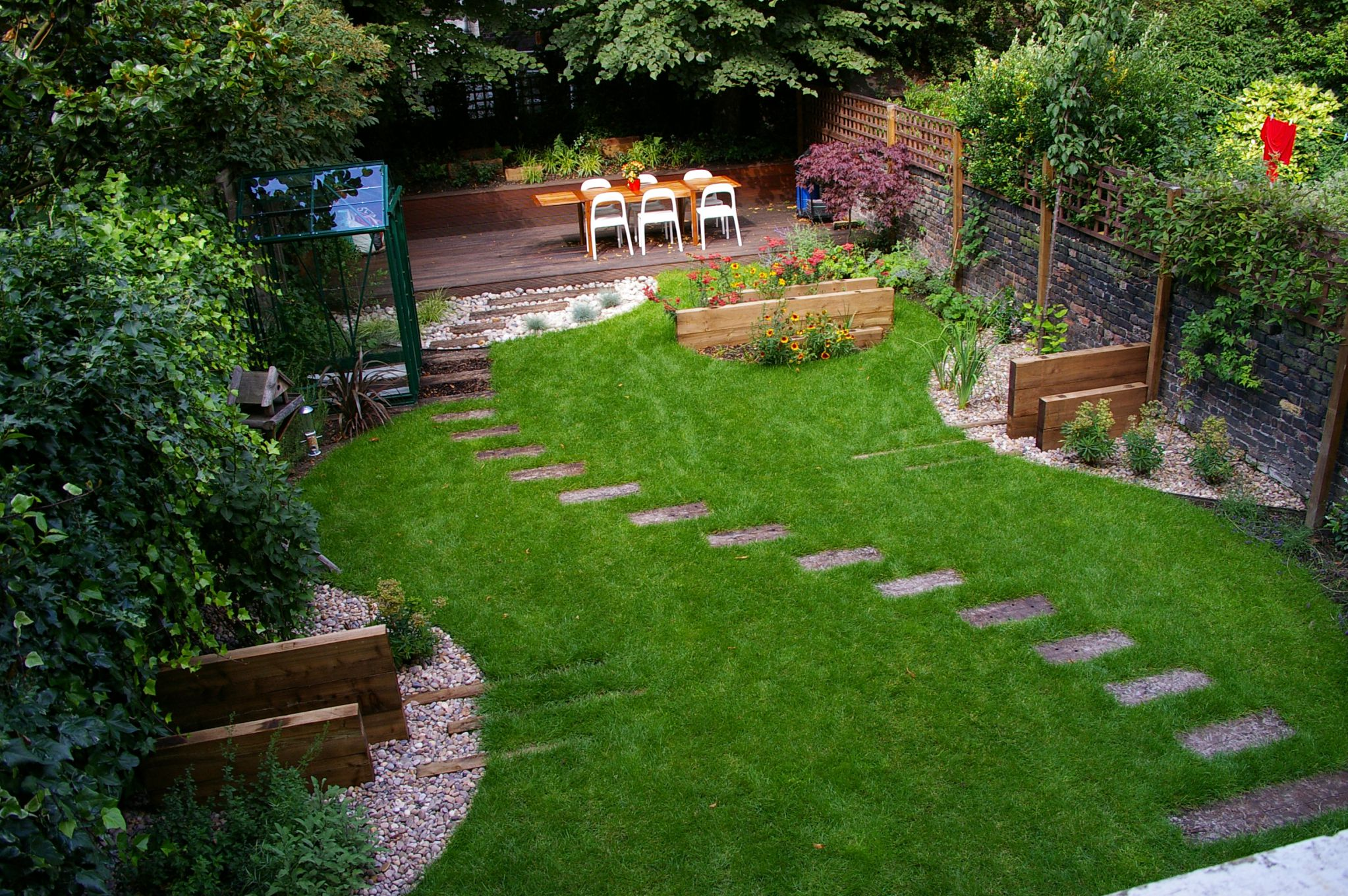 Awesome Backyard Privacy Ideas With Beautiful Garden Also Lavish Deck Plus  Chic Furniture