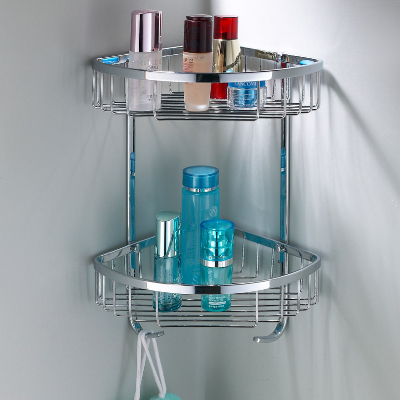 Bathroom Corner Shelf Completes Your Small Bathroom MidCityEast - Metal corner shelf bathroom for bathroom decor ideas