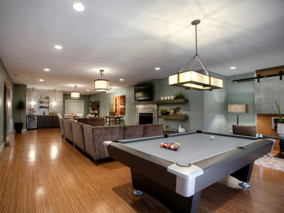 Bright Lighting Fixture Also Modern Pool Tables Plus Sofa Decor