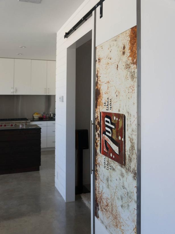 Classy Style Of Modern Barn Doors With Lavish Sticker Decor