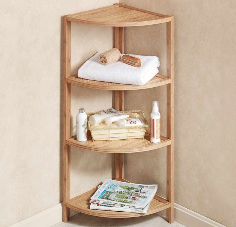 Captivating Wooden Corner Shelving Bathroom Corner Shelf Completes Your Small Bathroom  Midcityeast Part 7