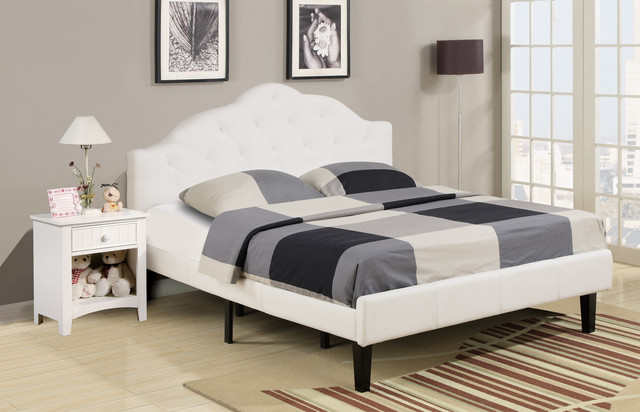 Delightful Bedroom Furniture Using Full Bed Headboard also Floor Lamp and Table