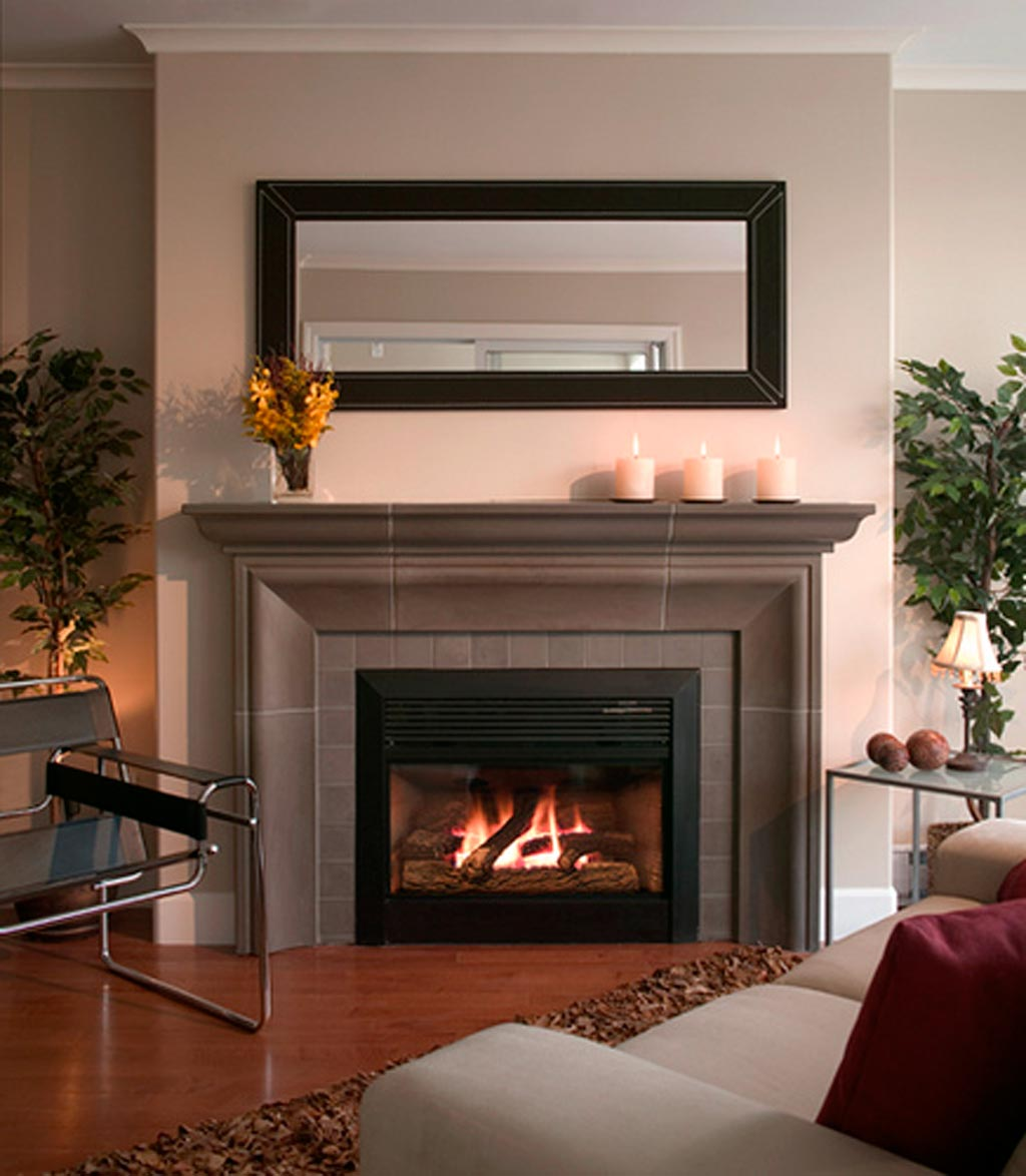 Delightful Living Space Using Neat Fireplace Mantels Ideas also Arm Chair