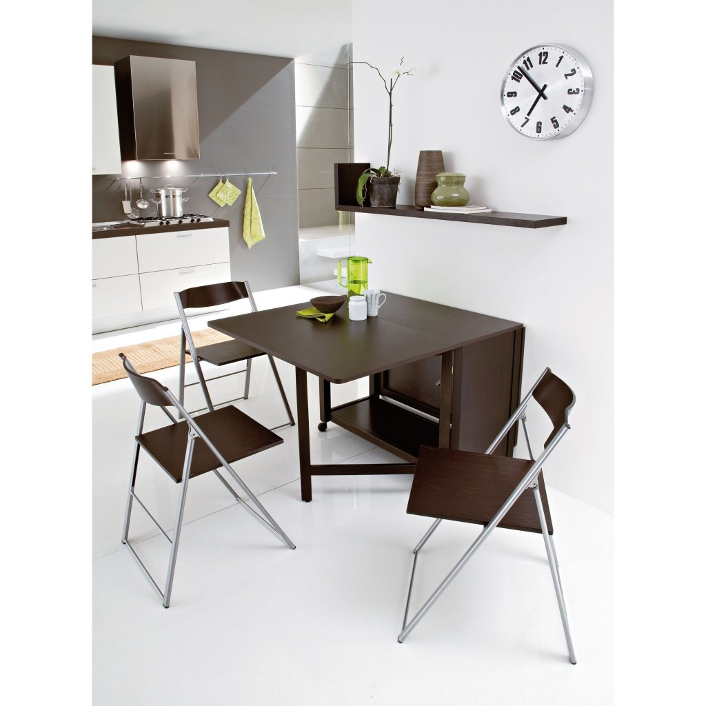 Fancy Style of Wooden Foldable Dining Table  and Chair Design