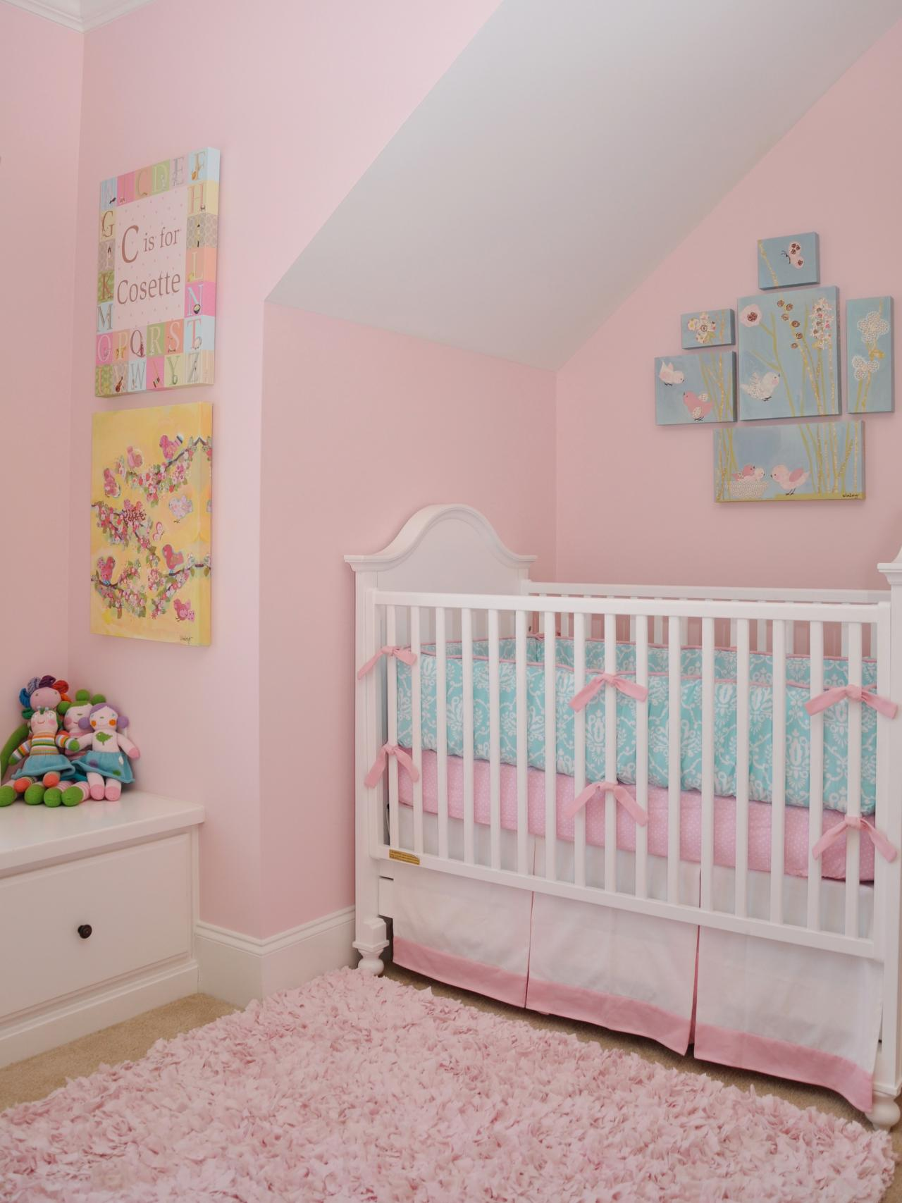 Simple decorating girl nursery design midcityeast for Simple nursery design