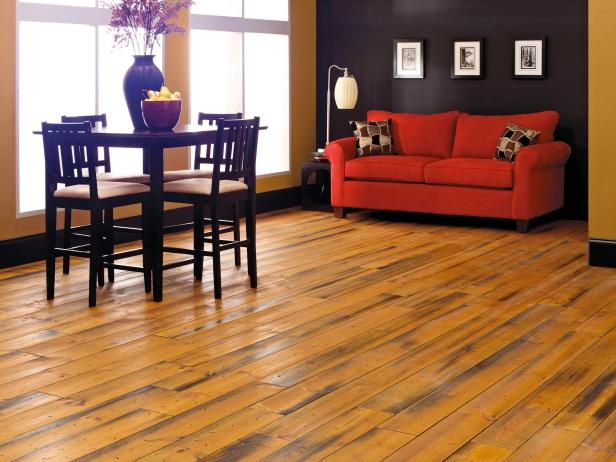 Gorgeus Wood Flooring Options also  Red Sofa Plus Dining Table Set