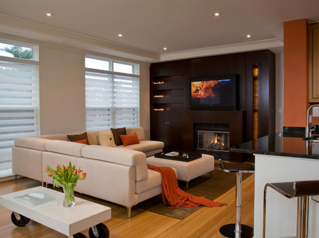 The most comfortable and attractive living room themes for L shaped living room with fireplace