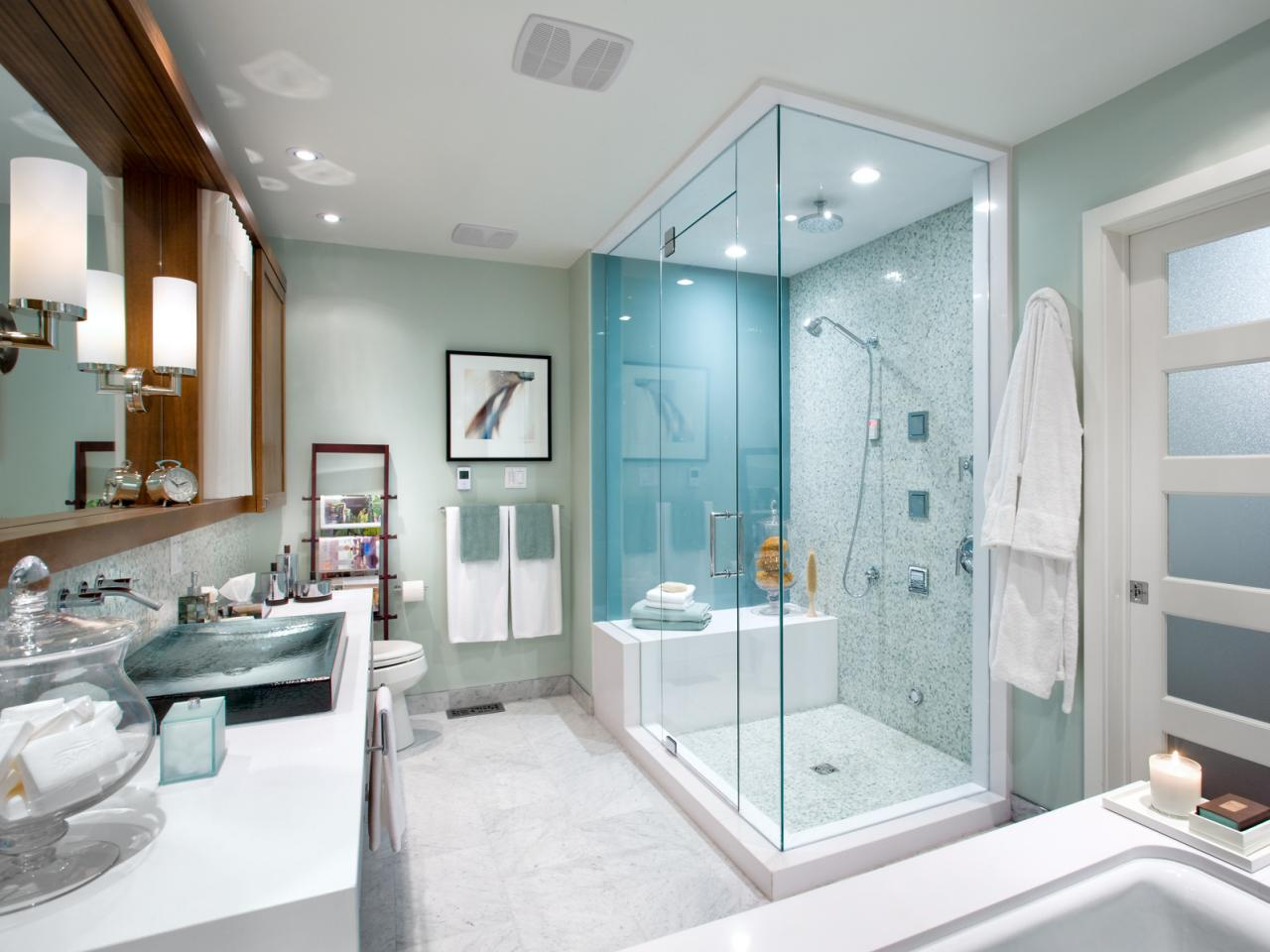 Horrible Cabinet With Mirror and Wall Lamp For Master Bathroom Designs