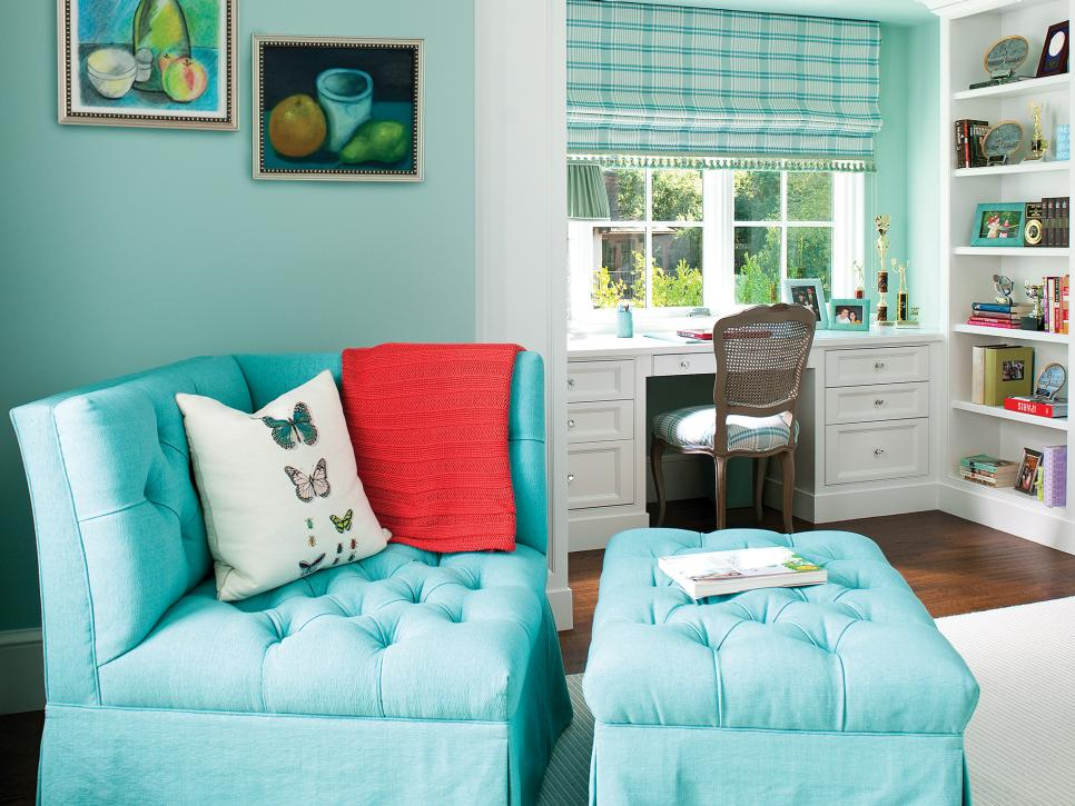 Impressive Room Using Comfy Reading Chair also Study Table Set Near Shelve