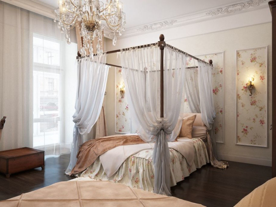 interesting bedroom using luxury bed design also frantic chandelier - Traditional Canopy 2016