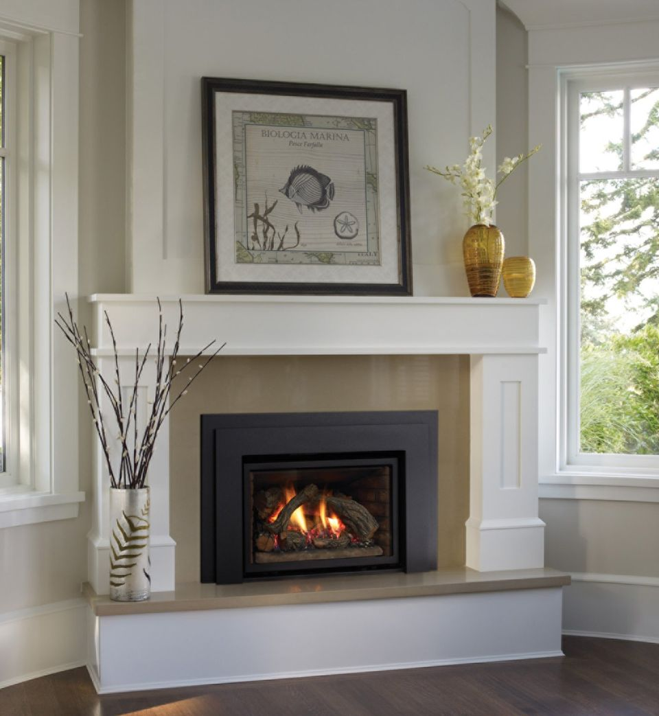 Lovely Concept Of Fireplace Mantel With Shelve also Chic Accessories