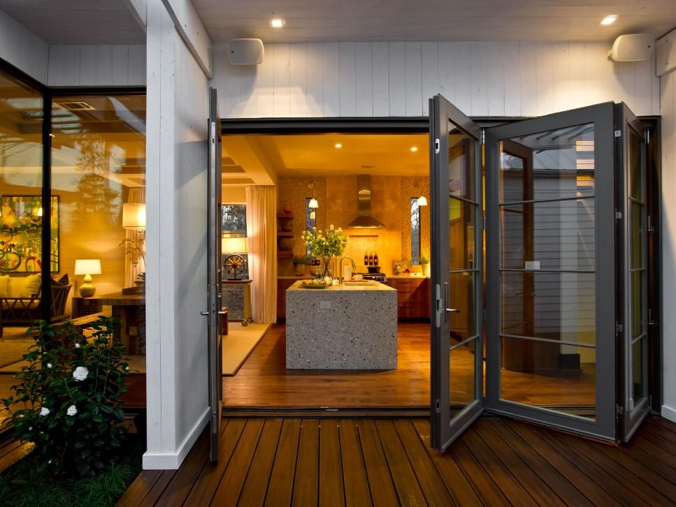 Lovely House Decoration Ideas Using Barn Door Designs With Glass Material