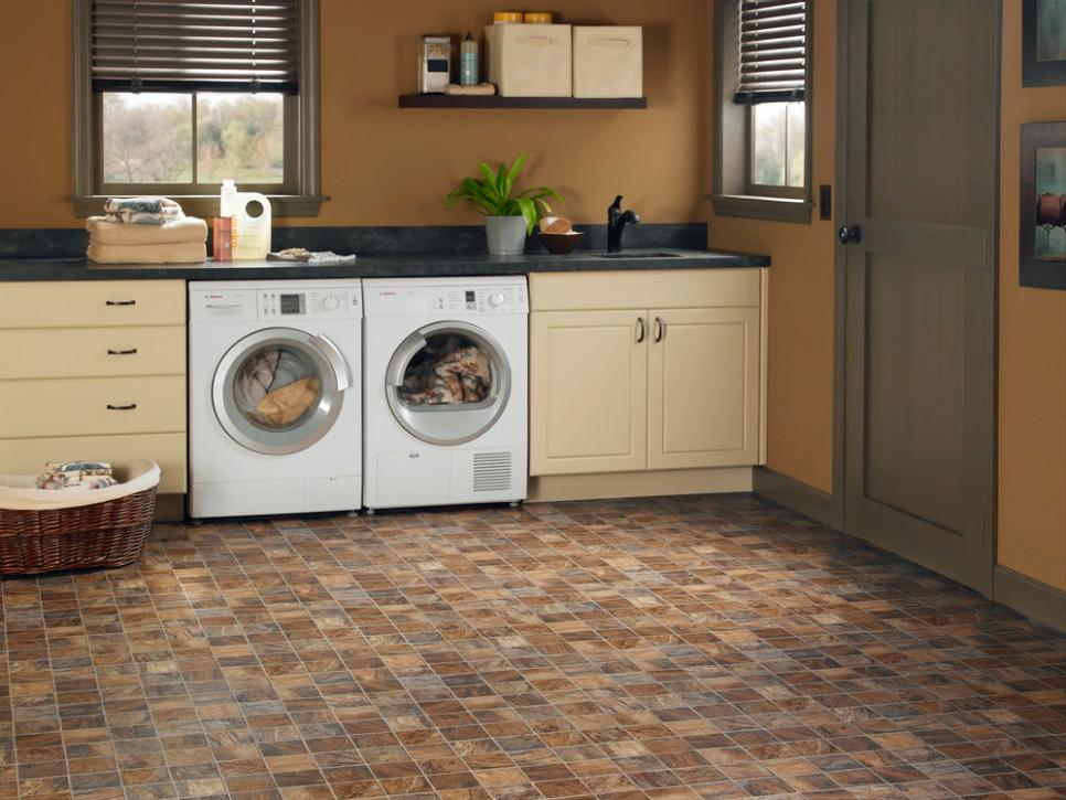 Magnetic Marble Floor Tile also Wooden Cabinet Plus Two Washing Machine