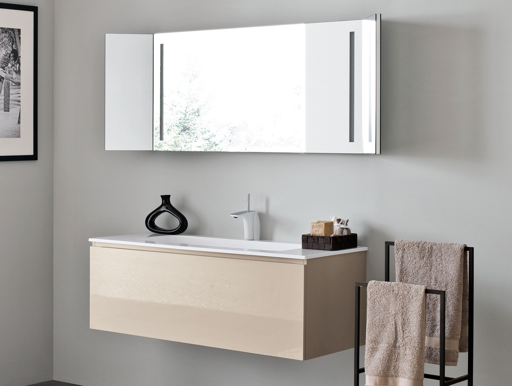 Magnificent  Cabinet Style With Modern Bathroom Sinks also Rectangular Mirror