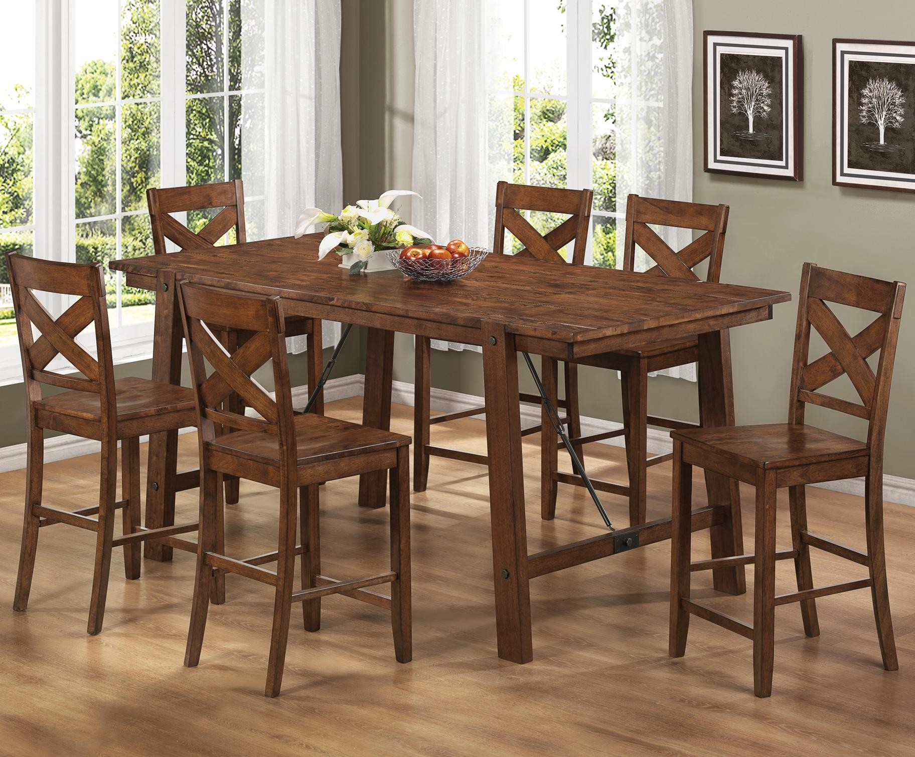 Nervous Kitchen Furniture With Rectangular Wooden Dining Table and Chairs