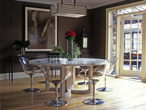 Pleasant Marble Dining Table Set Under Lush Chandelier Plus Visible Chairs