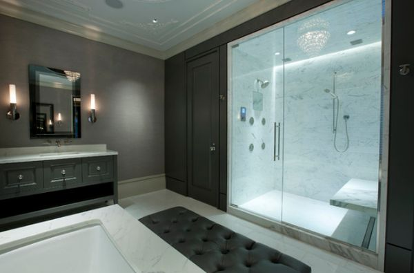 Pleasant Marble Wall amd Ceiling also Glass Door For Shower Remodel Ideas