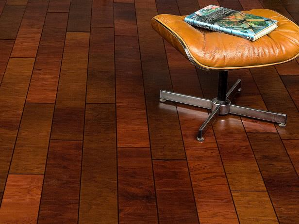 Pleasing Room With Impressive Wood Flooring also Charming Chair Design