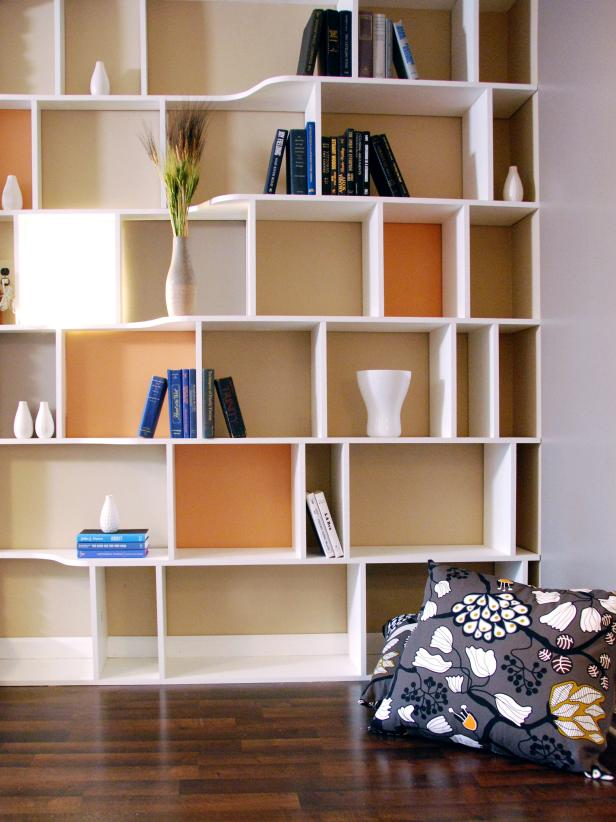 Seductive Home Office Using White Book Storage also Nice Pillows