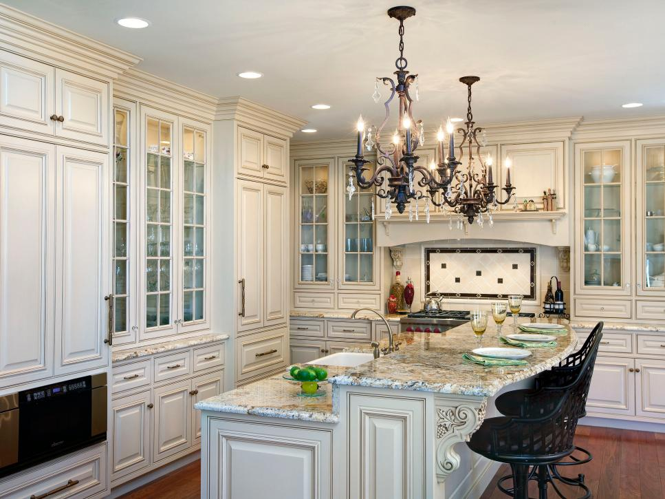 Seductive Kitchen Lighting Using Dark Chandelier also Built in Lamps