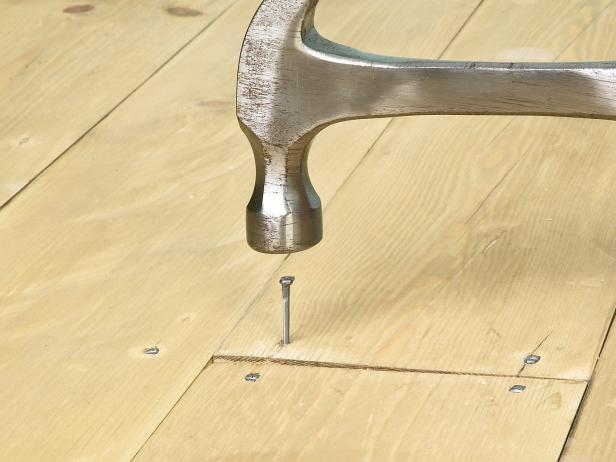 Simple Step To Instal Faux Wood Floor Using Nail and Hammer