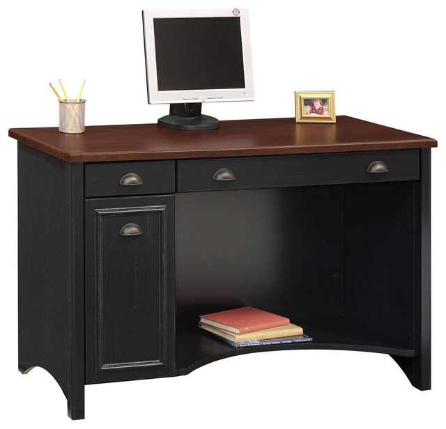 Stylish Desktop Computer Desk With Three Drawers also Wooden Top