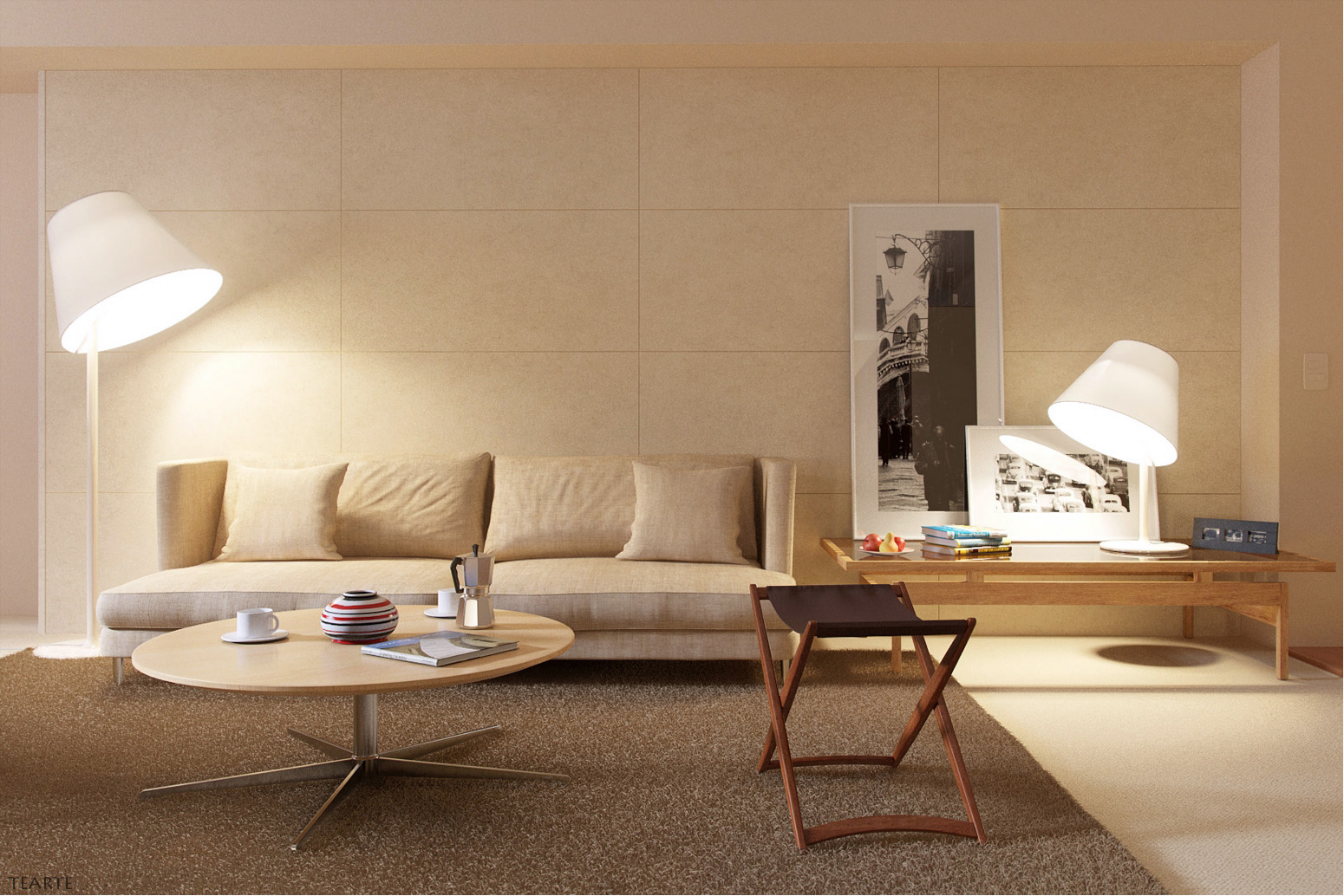 Sumptuous Living Space Furniture With Sofa also Round Coffee Table