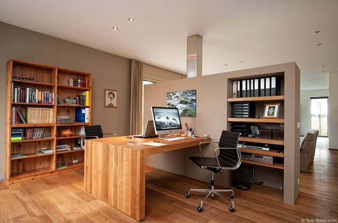 Winsome Home Office Using Wooden Book Shelve and Desk also Luring Chair