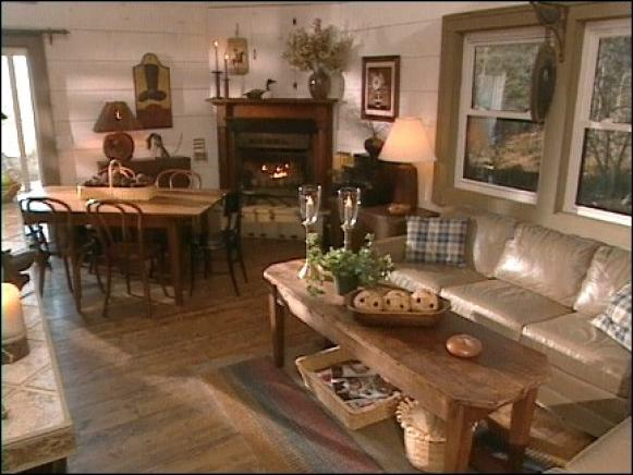 Wondrous Interior Cottage Using Dining Table Set also Charming Sofas