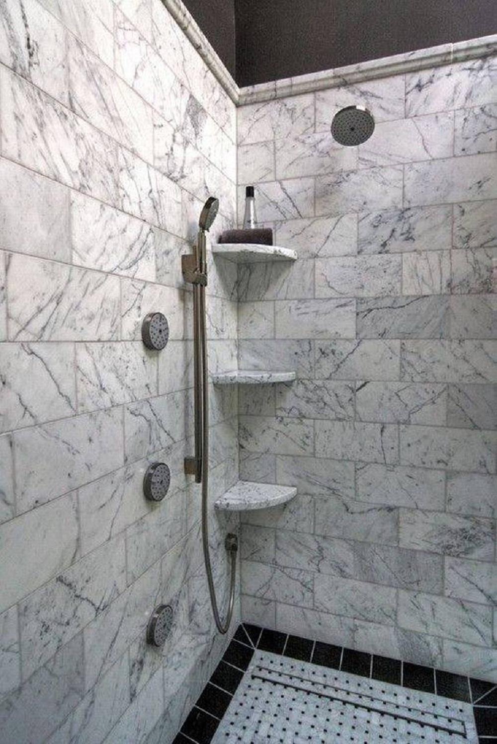 Bathroom corner shelf completes your small bathroom - Bathroom glass corner shelves shower ...